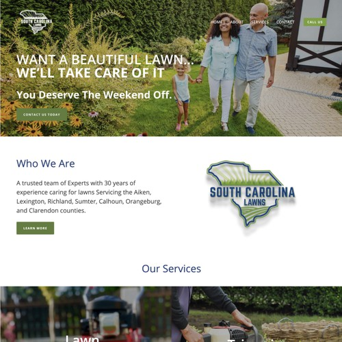 South Carolina Lawns Business Design