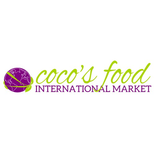 Create a winning logo for COCOS FOOD International grocery market