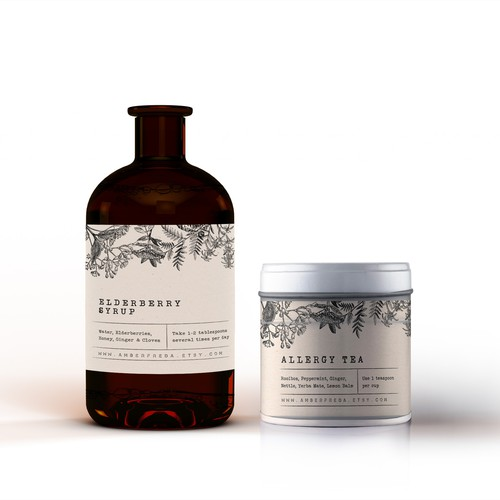 Apothecary style label