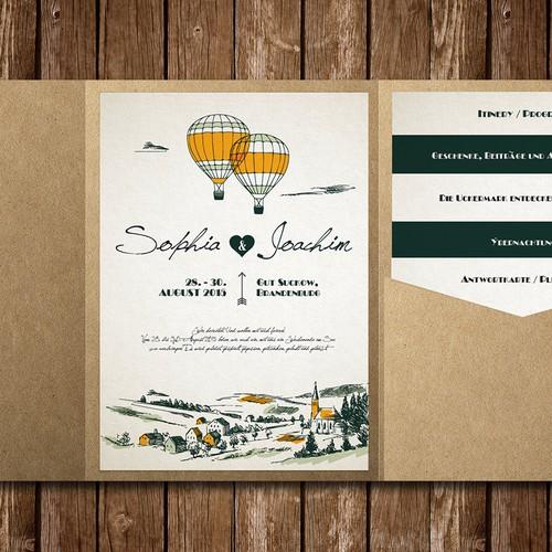 Help us design a cool wedding invitation!