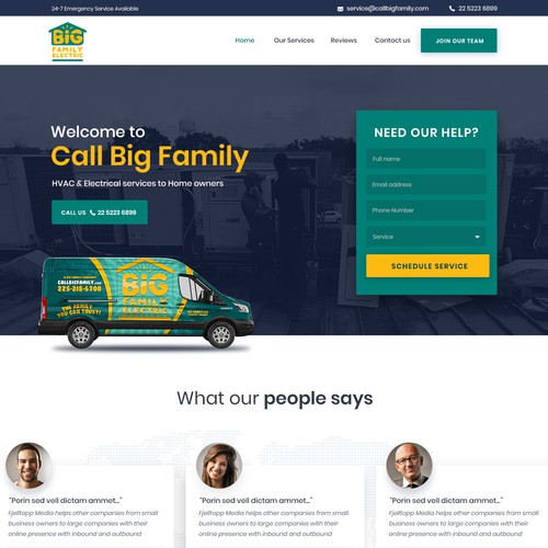 Design an Awesome HVAC / Electrical Contractor Website