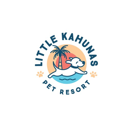 Logo for dog daycare and boarding resort