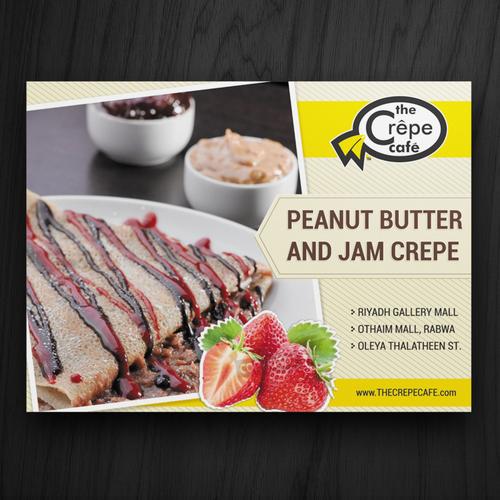 """Design for promotional crepe """"Peanut butter & Jam Crepe"""""""