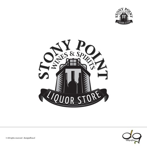 Logo design for a liquor store