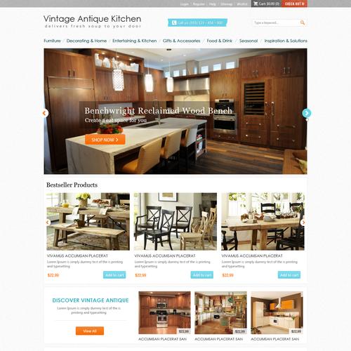 New website design wanted for Vintage Antique Kitchen