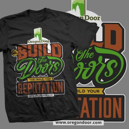 T-shirt Design concept  for oregondoor.com