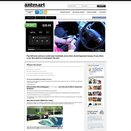 Create the next website design for AntMart