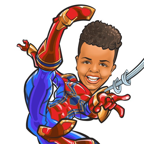 Spider-Man Caricature