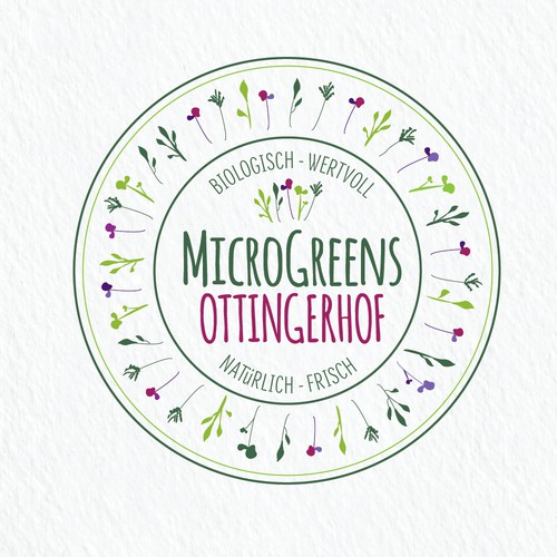 Logo for MicroGreens nursery.