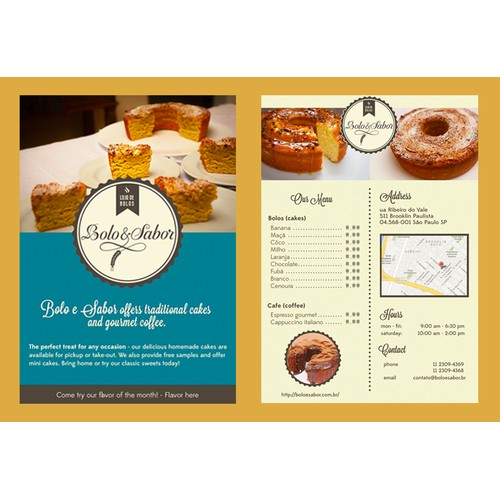 Flyer for Bakery