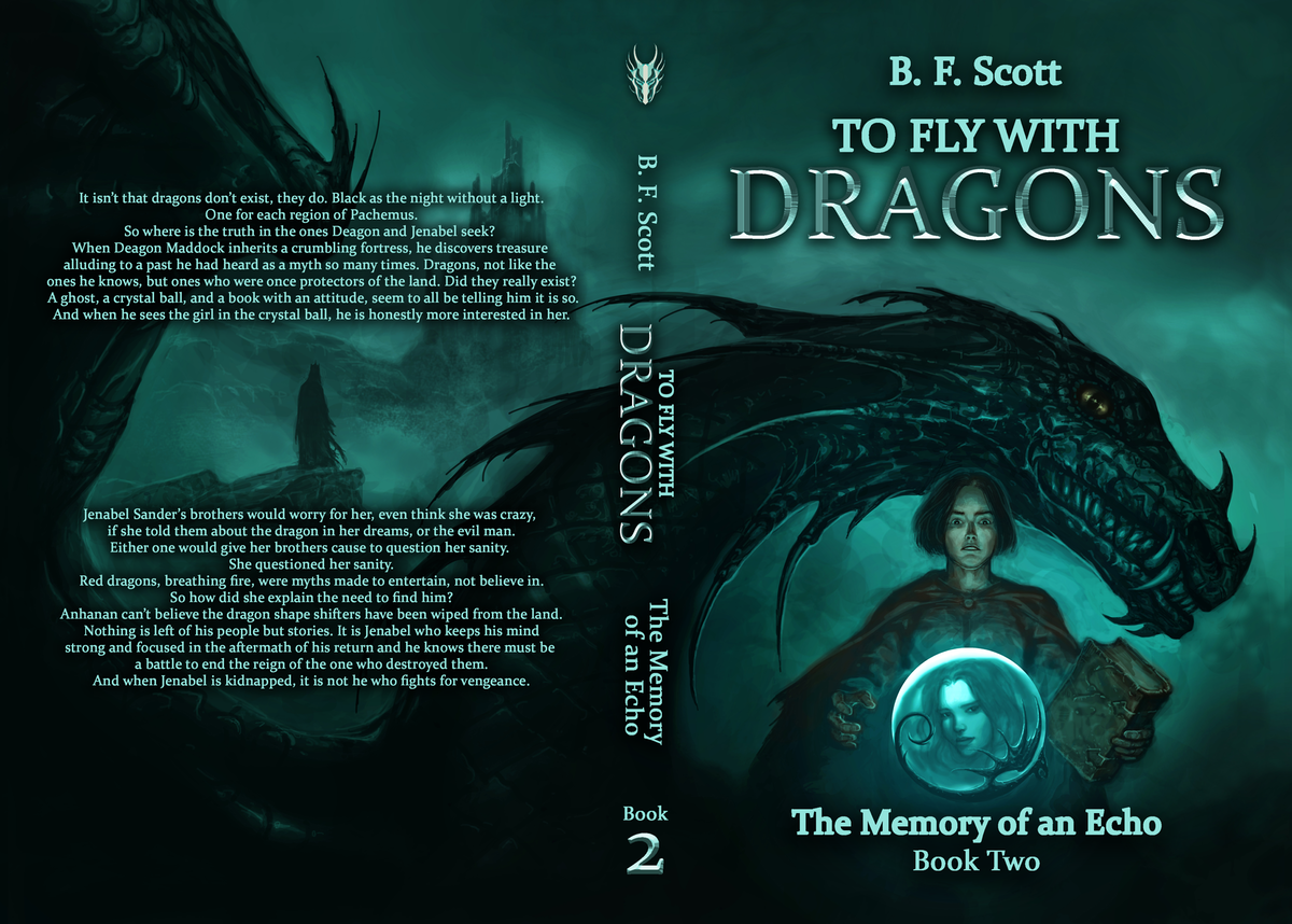 Fantasy cover for book 2 To Fly with Dragons series