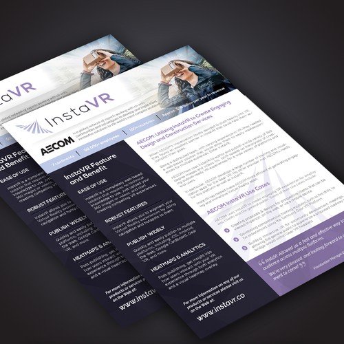 Futuristic Single Page Brochure