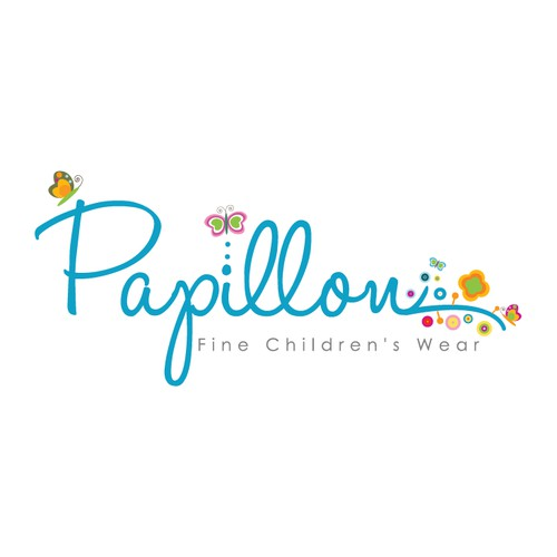 whimsical cute children logo