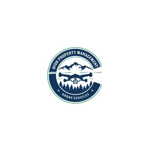 Drone mountain logo
