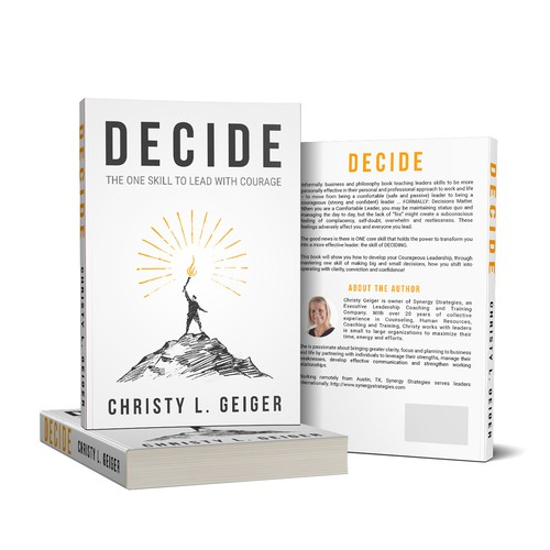 Clean & Sharp Book Cover Design for DECIDE