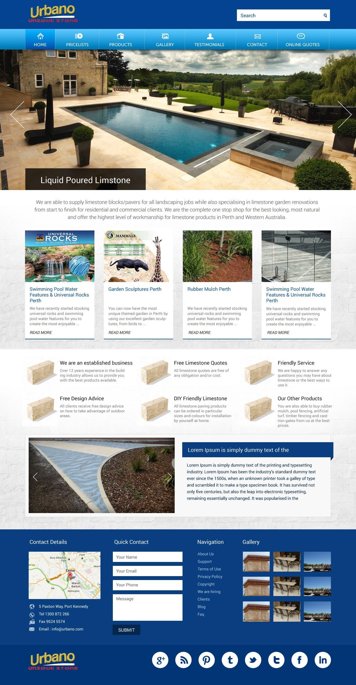 Help Urbano Unique Stone with a new website design