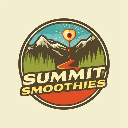 Winning logo for Summit Smoothie & Cafe