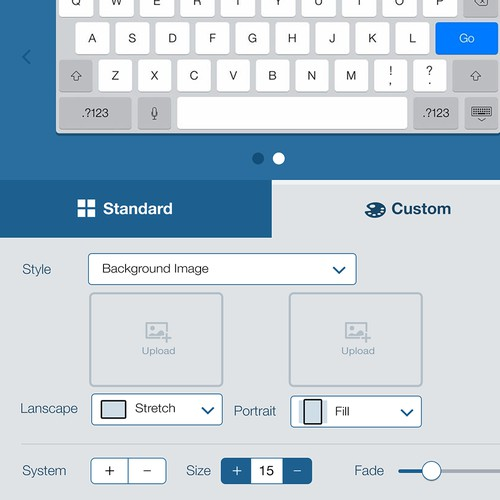 Custom keyboard configuration app design