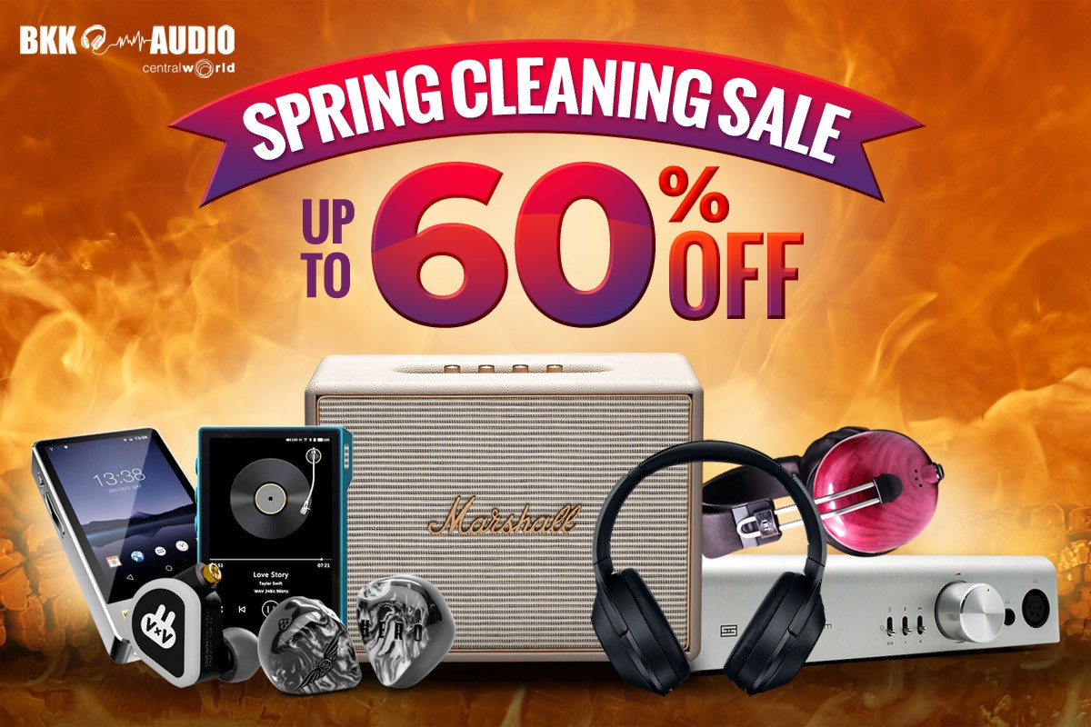Banners ads for BkkAudio Spring Cleaning Sale discount up to 60% off