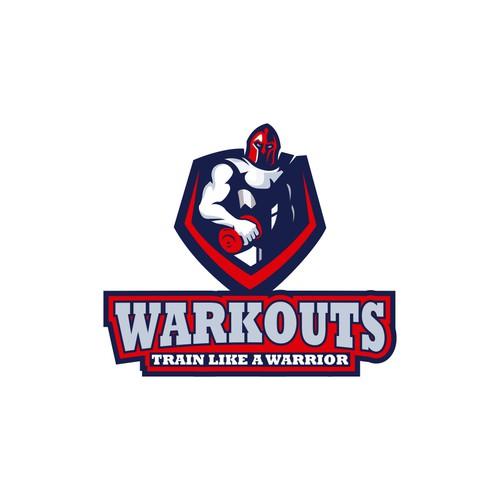 "New Workout Logo - ""Train like a Warrior"""
