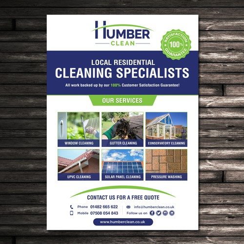 A5 Flyer for Cleaning Company