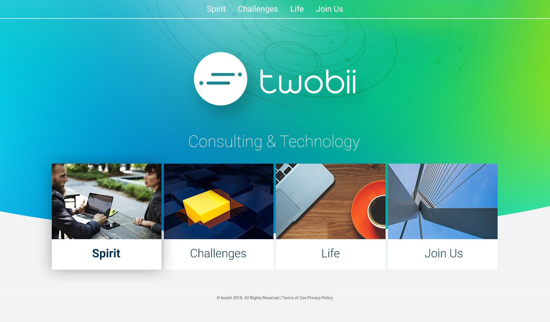 Twobii needs an Original Hiring Website ! Feel Free to Innovate !!