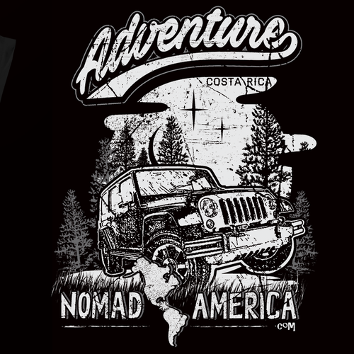 Design t-shirt art for a Costa Rican Adventure Company