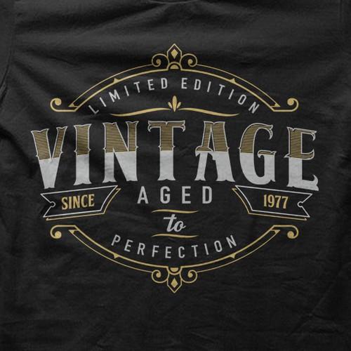 t-shirt design concept vintage typography