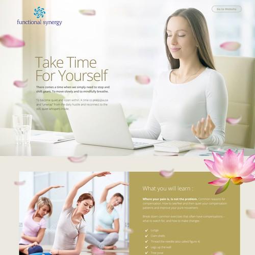 Ui Web Design - Landing Page Yoga
