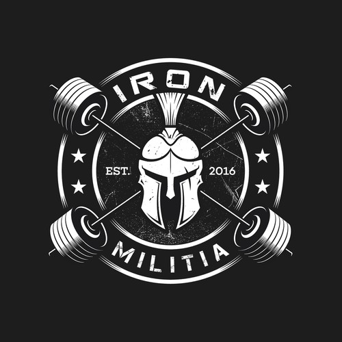 A strong logo for a powerlifting gym