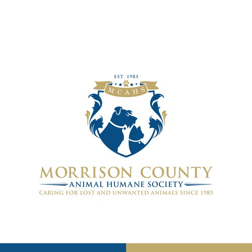 Humane Society seeking fresh but classic or vintage looking coat-of-arms style logo for rebranding.