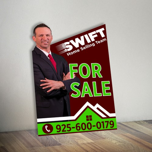 Real Estate For Sale Sign Competition. Your design will hang in front of 100's of homes