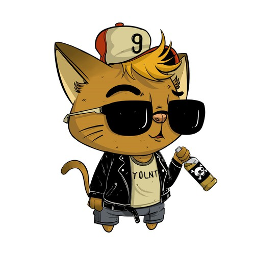 Cool Hipster Cat YOLNT