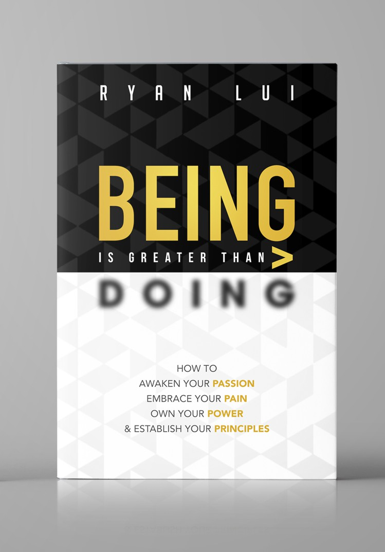 """Book Cover: """"BEING>DOING""""  Help me change lives and the world!"""