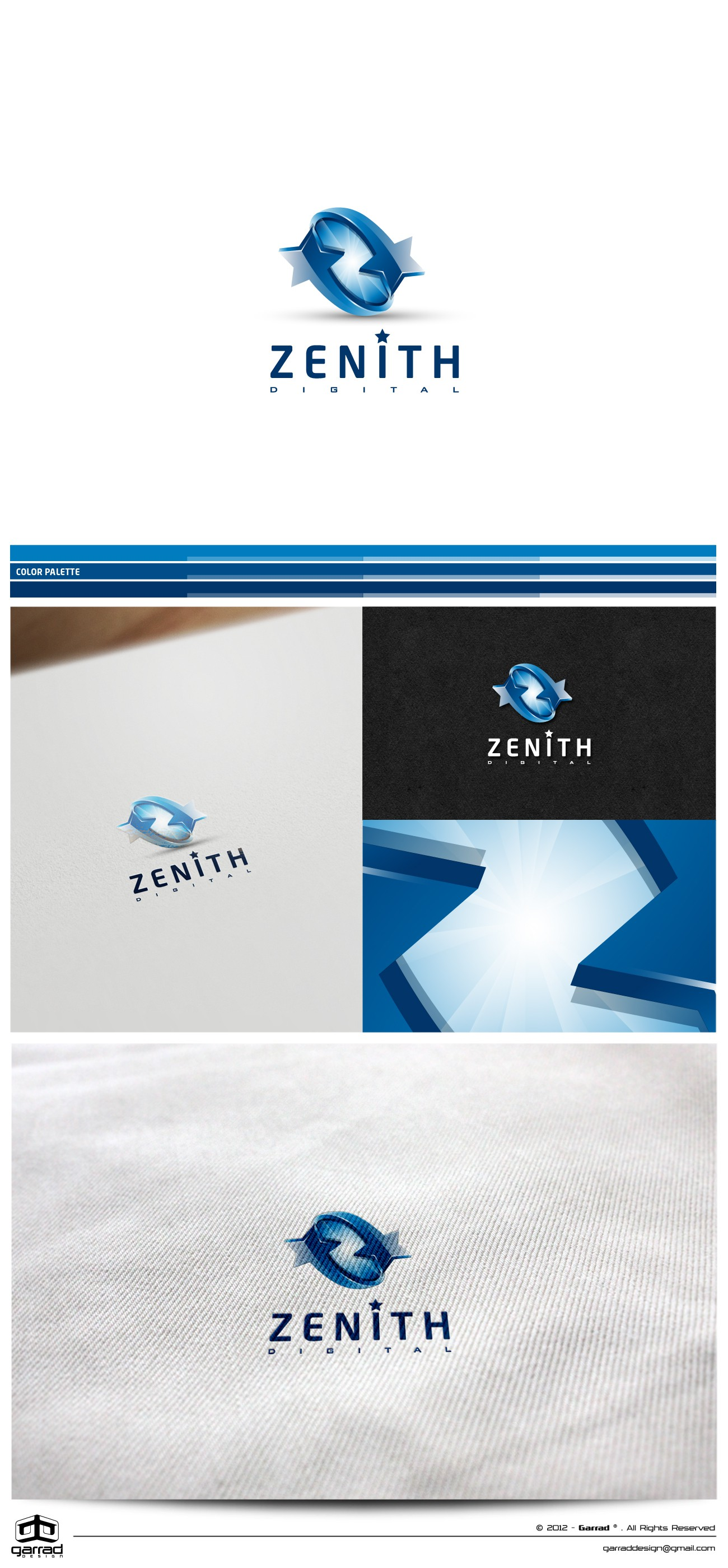 Create a slick futuristic logo design for Zenith Digital - Clear and good design brief.