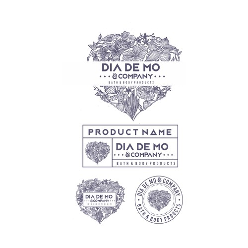 Dia De Mo - Label Product - Floral Love Sign :)