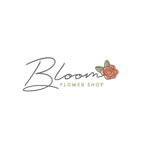 Elegant logo for a flower shop