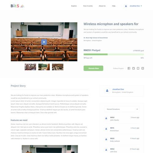BitS crowdfunding platform - project page