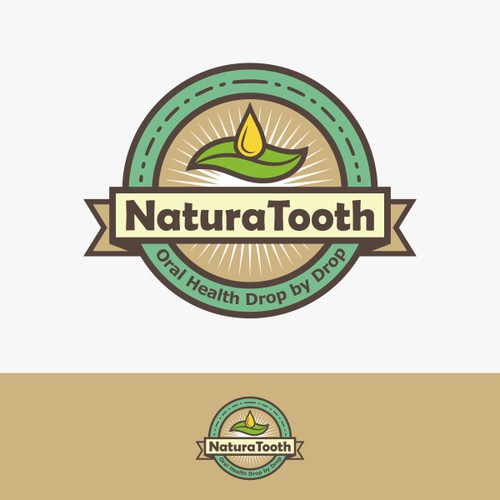 Healthy toothpaste alternative logo and label
