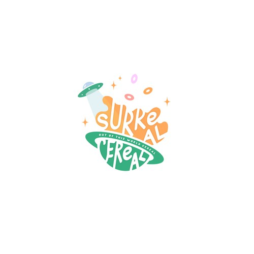 Logo for a place serving custom cereal bowls and ice cream shakes