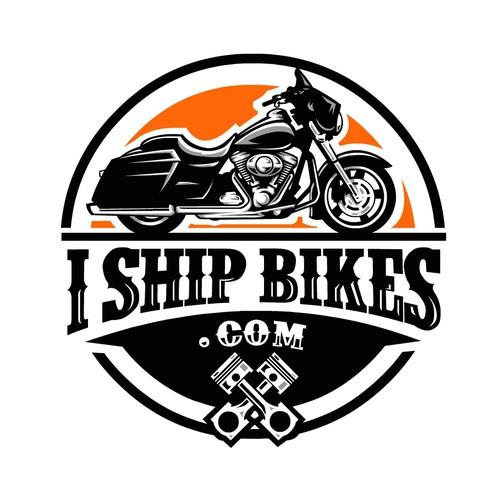 Bold Logo concept for I Ship Bikes .com