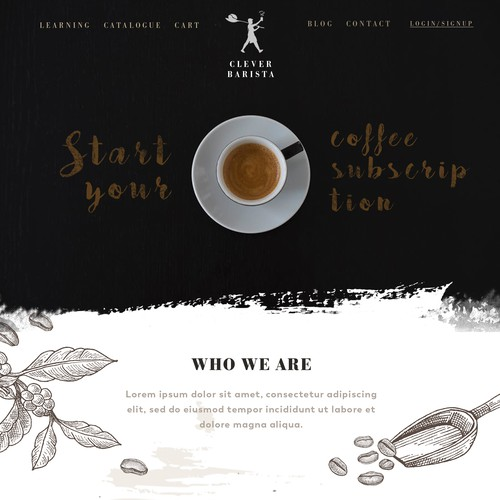 coffee barista commerce website design