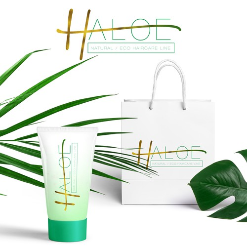 Custom logo design for Haloe cosmetics