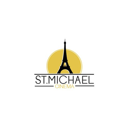 Logo for a Paris-themed movie theatre complex.