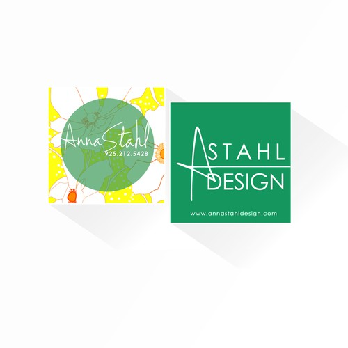 Business card for expanding Interior Design firm