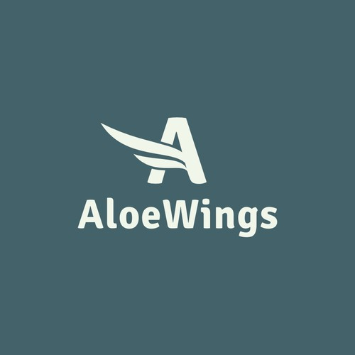Create a capturing clean logo for AloeWings