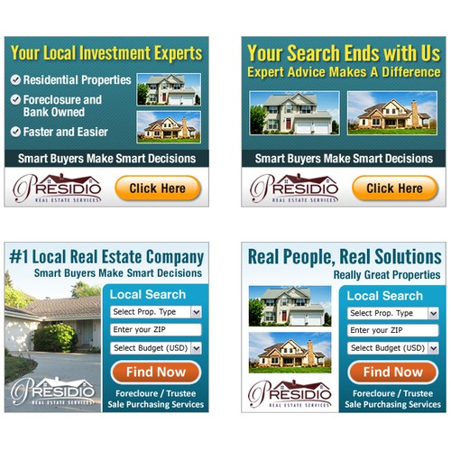 Banner/Box Ad for Presidio Real Estate Services