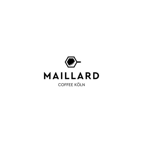 Simple clean logo for coffee company