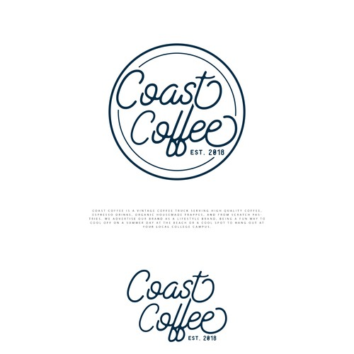 Logo for a mobile coffee truck.