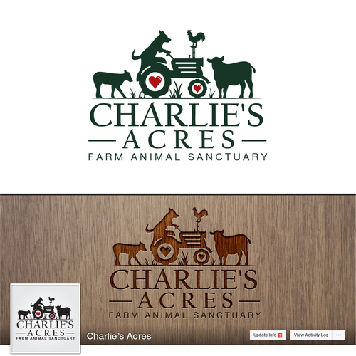 Strong and creative design for a farm animal sanctuary